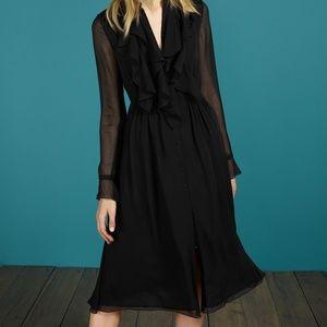 NWT Black Boden Icons Winifred Midi Dress SZ 16